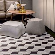 cube rug in modern room