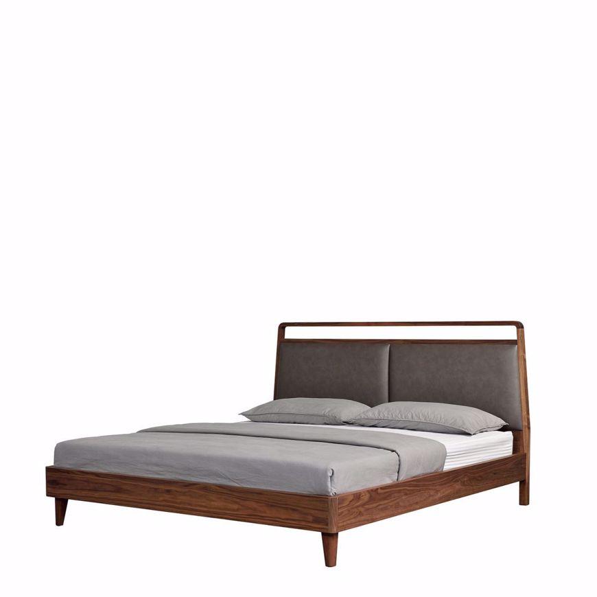 walnut base bed frame