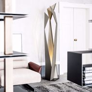 floor lamp in contemporary room