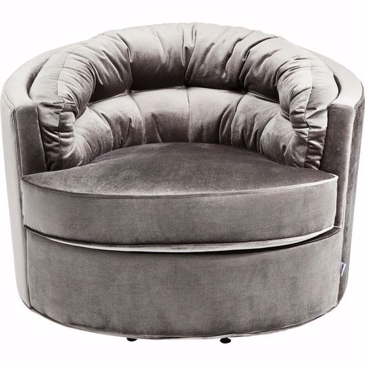 Image de Music Hall Swivel Chair - Grey