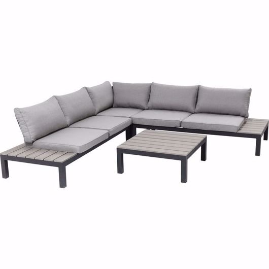 Picture of Holiday 4 Piece Outdoor Sofa Set - Black