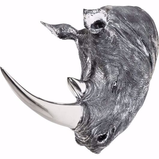 Image de Deco Rhino Head - Antique Silver