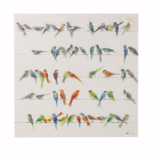 Image de Birds Meeting Hand Touched Square