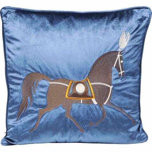 Image de Classy Horse Cushion - Blue