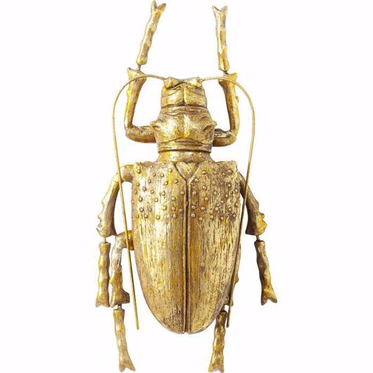 Image de Longicorn Beetle Wall Decoration - Gold