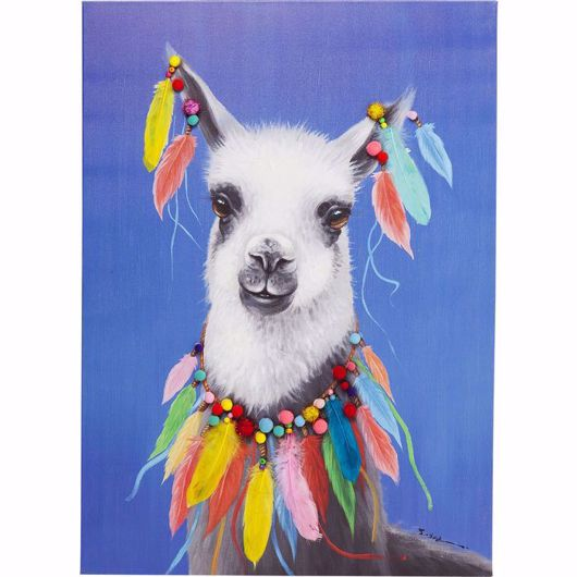 Picture of Llama Pom Pom Hand Touched