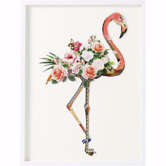 图片 Flamingo Framed Art