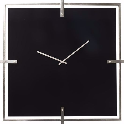Image de Black Mamba Wall Clock - Chrome