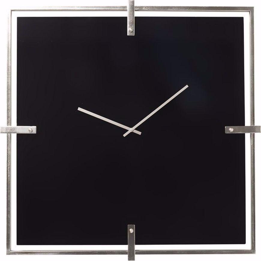Picture of Black Mamba Wall Clock - Chrome