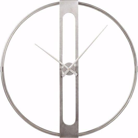 Image de Clip Silver Wall Clock