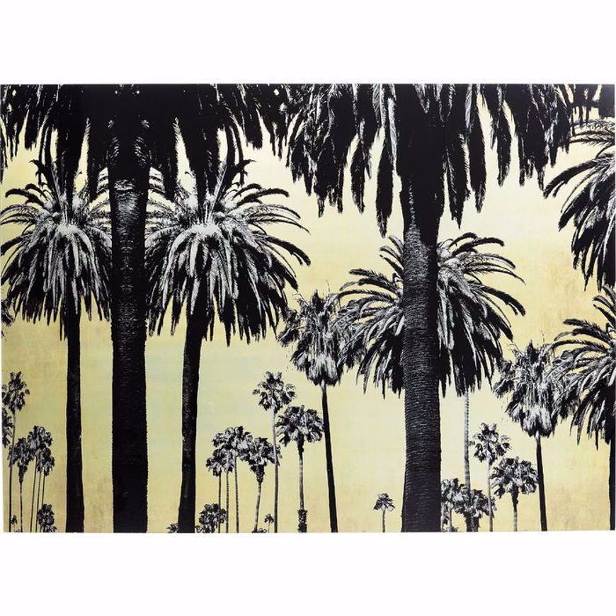 Picture of Metallic Palms Glass