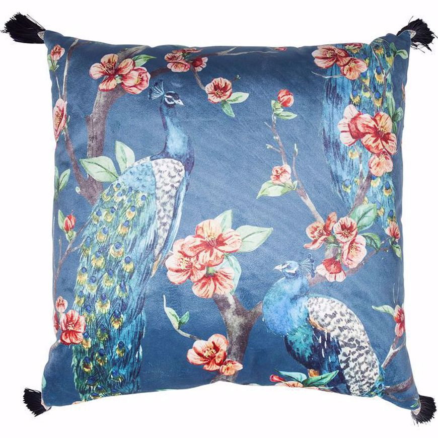 Image sur Paradise Peacock Cushion