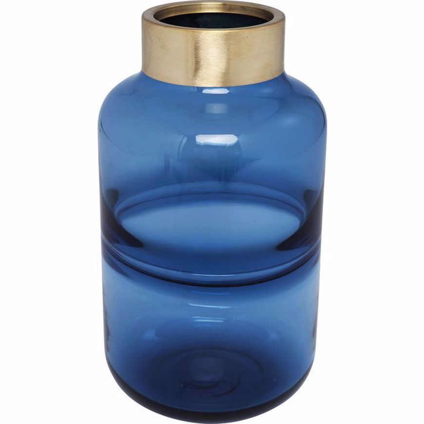 Picture of Positano 28 Belly Vase - Blue