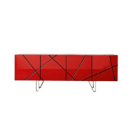 Image sur STRIPES Sideboard - Red
