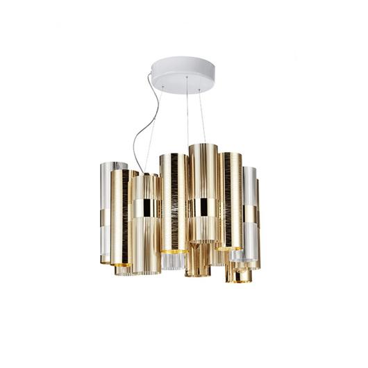 Picture of La Lollo Suspension Lamp - Gold