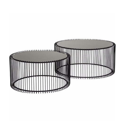 Image de Wire Coffee Table Set - Black