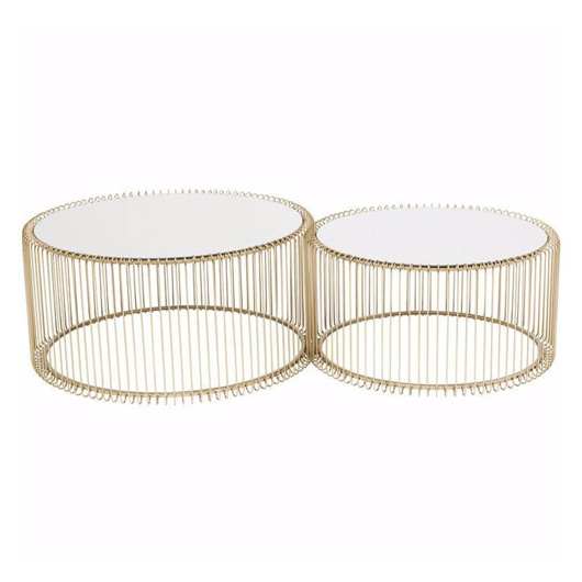 Picture of Wire Coffee Table Set - Brass