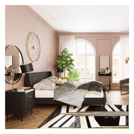 Picture of MILANO Wooden Bed - Queen