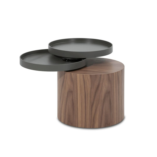 Image de Wooden End Table with Trays