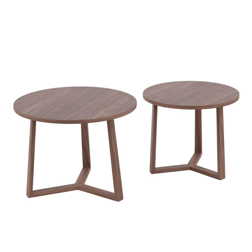 图片 2-Set Wooden End Tables